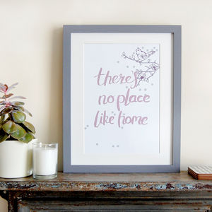 There's No Place Like Home, Art Print - family & home