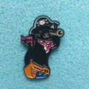 'Pirate Cat Pin', 'Enamel Cat Pin'