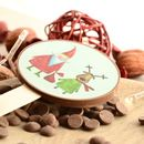 Santa And Reindeer Picture Chocolate Lollipop