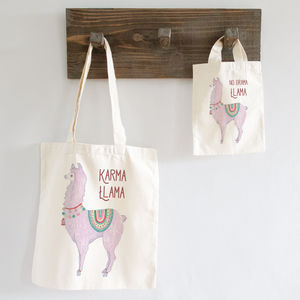 No Drama Karma Llama Personalised Bag