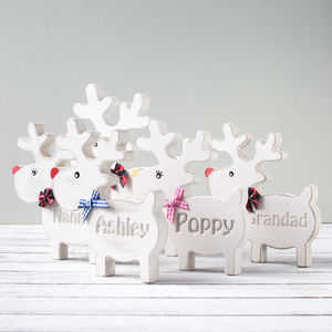 Personalised Wooden Freestanding Reindeer - placecards
