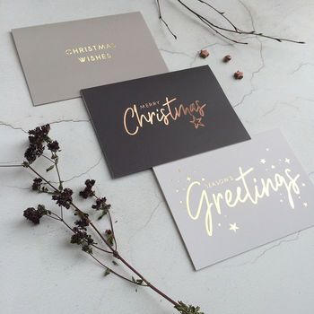 Luxury Gold Foil Christmas Cards