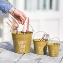 Personalised Buckets For A Grown Up And Mini Helpers