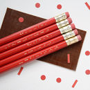 Secret Morse Message Valentines Pencil Set