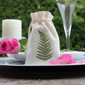 Feather And Fern Wedding Favour Bags