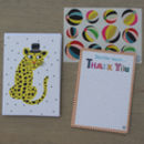12 Childs Thank You Cards Leopard