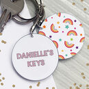 Your Keys Personalised Bright Keyring
