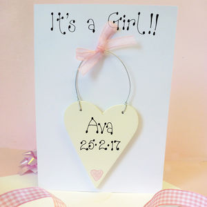 New Baby Personalised Card