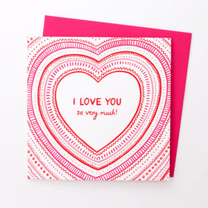 'I Love You So Very Much' Card