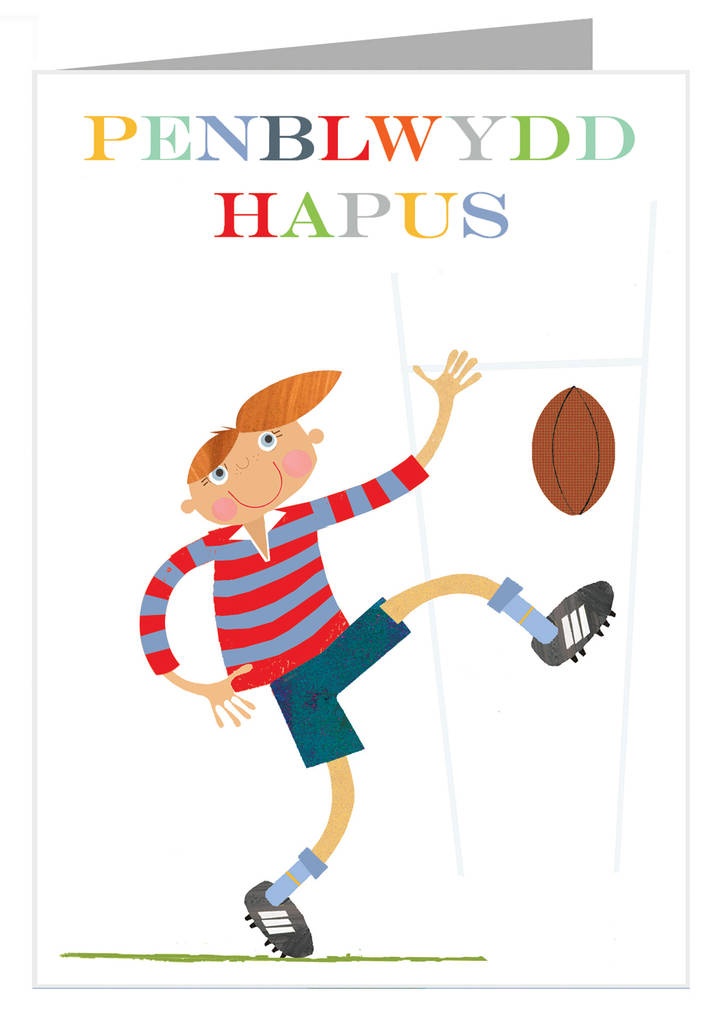 Welsh rugby penblwydd hapus greetings card by kali stileman welsh rugby penblwydd hapus greetings card m4hsunfo Images