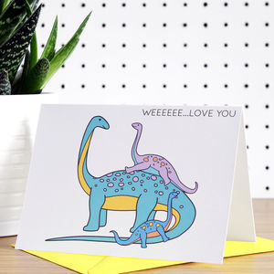 We Love You Dinosaur Mother's Day Or Father's Day Card - shop by category