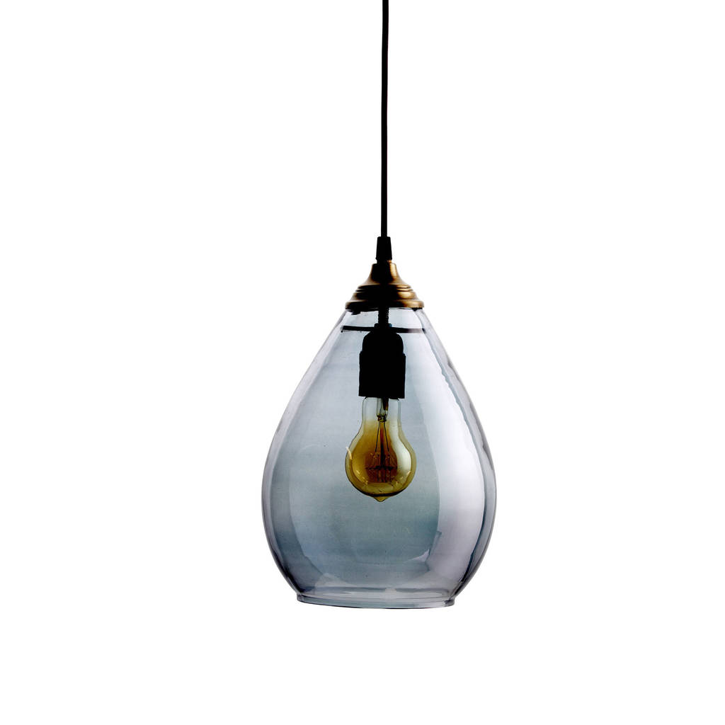 Simple Grey Glass Pendant Light By Idyll Home