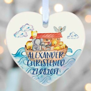 Christening Girls Boys Noahs Ark - hanging decorations