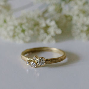Brilliant Diamond Cluster Engagement Ring - rings