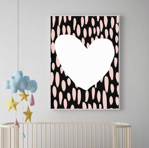 Contemporary Heart Rains Print - posters & prints