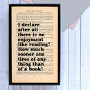 PRIDE_AND_PREJUDICE_PRINT_LITERARY_GIFTS_I_DECLARE_AFTER_ALL_NO_ENJOYMENT_LIKE_READING_QUOTE_FRAMED_BOOK_PAGE_PRINT