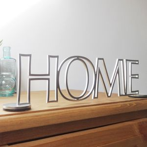 Stainless Steel Standing Home Sign - decorative letters