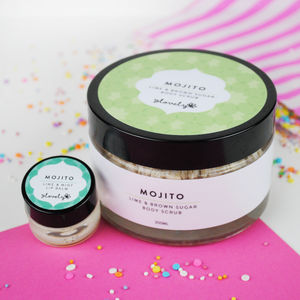 'Mojito' Body Scrub And Lip Balm Bundle