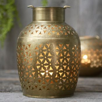 Brass Urn Tealight Holder