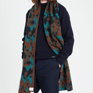 Bknit Camo Scarf - men's accessories