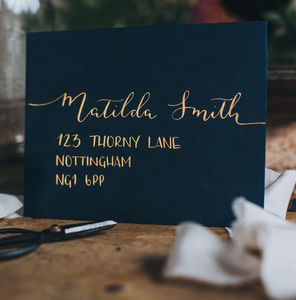 Envelope Addressing For Invitations/Special Occasions