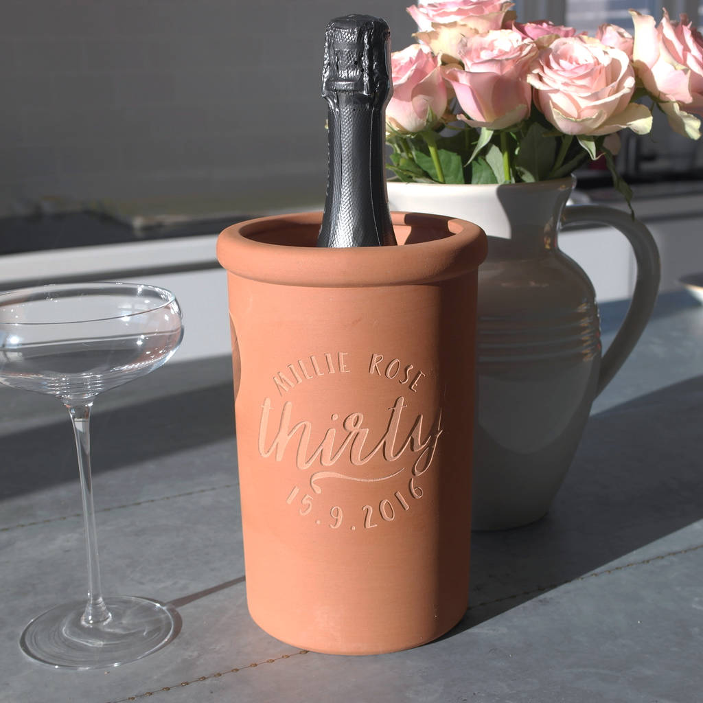 Personalised Birthday Champagne Cooler
