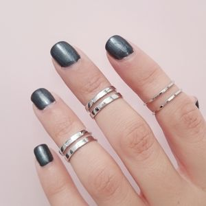 Mini Silver Midi Ring Set
