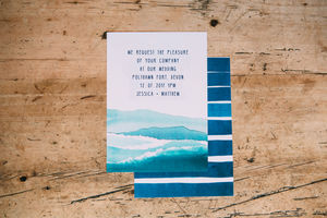 Nautical Sailing Wedding Day Invitations - new lines added