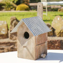 Traditional Wooden Zinc Roofed Bird House Gift