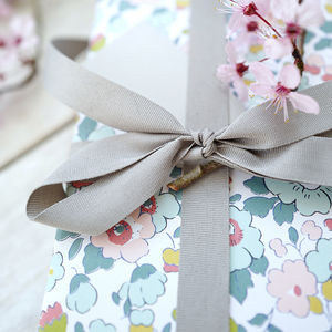Liberty Floral Gift Wrap Sheet - mother's day cards & wrap