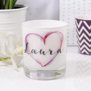 Inky Heart Luxury Round Scented Candle - candles & home fragrance