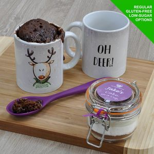 'Oh Deer' Christmas Mug Cake Kit - cakes & sweet treats