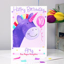 Personalised Unicorn Relation Birthday Card