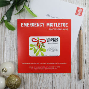 Emergency Mistletoe Christmas Card - new lines added