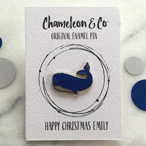 Whale Enamel Pin - children's jewellery