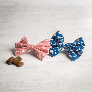Pink Or Blue Dog Bow Tie - dogs