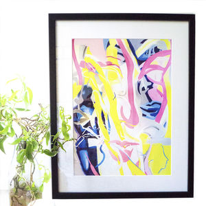 'At The Moment' Contemporary Abstract Giclee Print - posters & prints