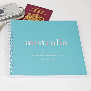 Personalised Travel Or Holiday Memory Book