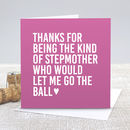 'Kind Stepmother' Mother's Day Card