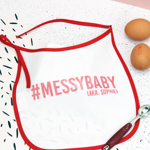 Personalised Hashtag New Baby Bib
