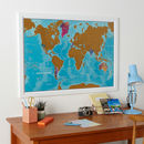 Scratch The World® Watercolour Edition Map With Coin