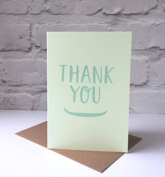 Thank You Screen Printed Card
