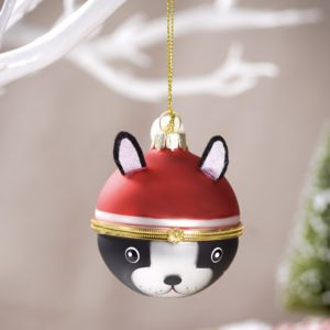 Christmas French Bulldog Locket Bauble - christmas decorations