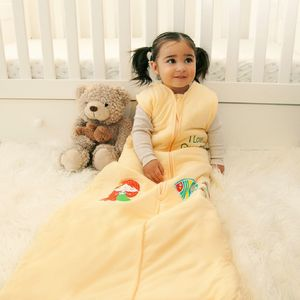 Personalised Yellow Sleeping Bag