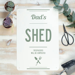 Garden Shed Sign For Dad - signs