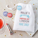 Personalised Hen Night Survival Favour Bag