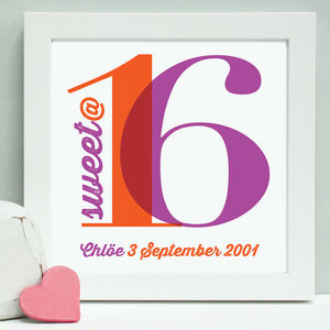 Personalised Bright Birthday Framed Print