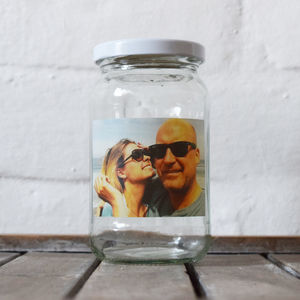 Personalised Valentines Photo Keepsake Jar - message token favours