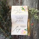Floral Posy Folded Wedding Invitation
