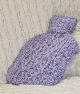 Soft Merino Aran Hot Water Bottle Cover - hot water bottles & covers